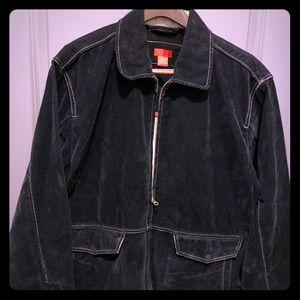 IZOD men's coat in black.